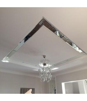 Зеркальное панно на потолок прямоугольное