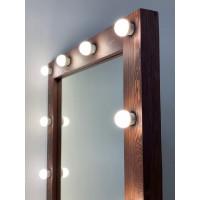 Гримерное зеркало 180х80 из массива цвета кофе