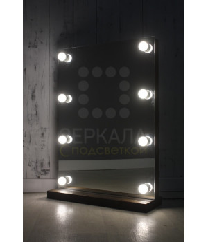 Гримерное зеркало настольное 80х60 с подсветкой лампочками по бокам